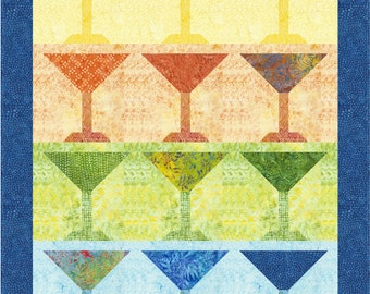 Happy Hour Quilt Pattern, 4982-1e, wall quilt pattern, martini wall hanging