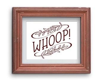 WHOOP Texas A&M Aggies Print {Digital}