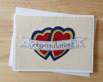 Congatulations card,  anniversary, wedding, engagement card, super hero style