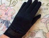 1960s Black Gloves Ladies