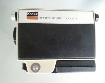 Kodak Hawkeye Instamatic Model B Movie Camera, Vintage Camera, Eastman Kodak, Made in U.S.A., Battery Operated Movie Camera, Hand-Held, 8 mm