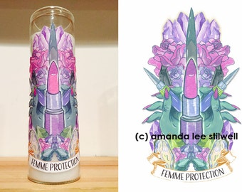 FEMME PROTECTION Spell Candle - Magic Spell