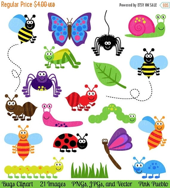 Clip Art Bug Clipart bug clipart etsy bugs clip art insects vectors commercial and personal