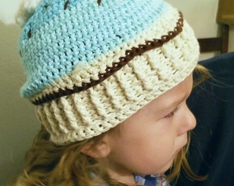 Cupcake beanie hat - Toddlers (2-3 years old)