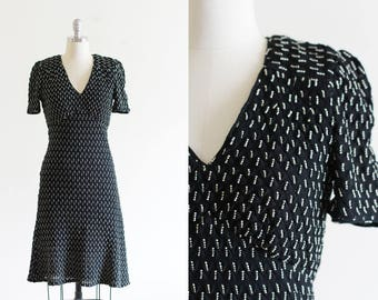 90's Vintage Anna Sui Dress / Designer Vintage / Made in the USA / Size 4-6