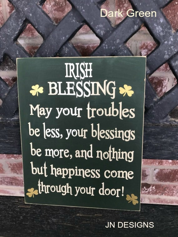 Irish Blessing-St. Patrick's day sign