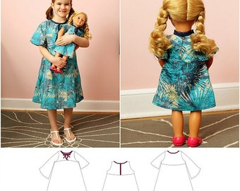 Naples Dress Pattern Dolly and Me Bundle