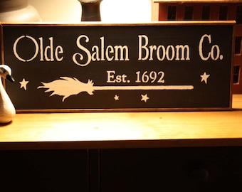 Olde Salem Broom Company Wall Sign
