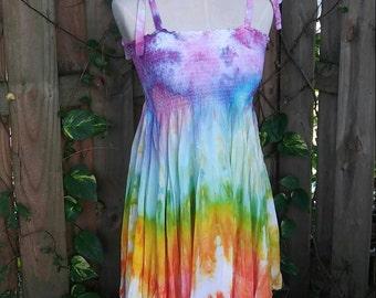 Ice Dyed Festival Skirt/Dress - Large