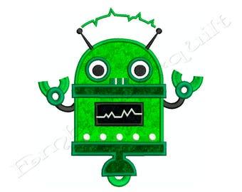 ROBOT 1 - Machine Applique Embroidery - Instant Digital Download