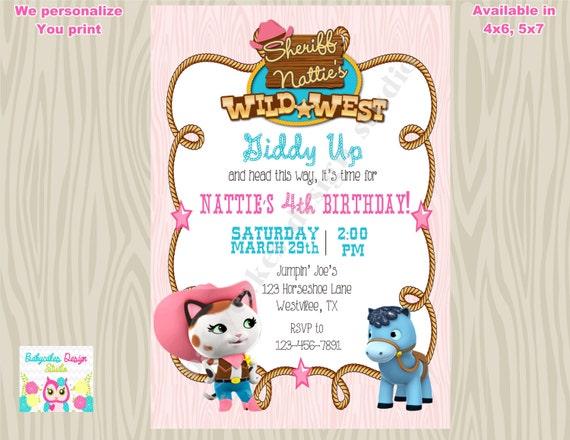 Sheriff Callie Birthday Invitation Sheriff Callie Invitation