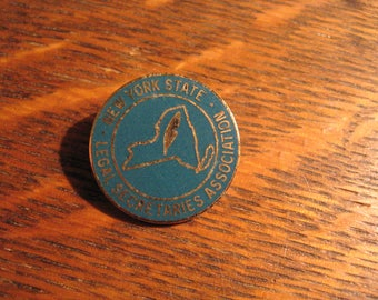 Legal Secretaries Pin - Vintage New York State Association Union Lapel Hat Pin