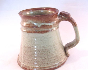 Large Stein - 22 oz. Tankard - Renaissance Stein - Coffee Mug - Handmade Pottery - Pottersong Pottery  -  Speckled Cream - Gift for Him
