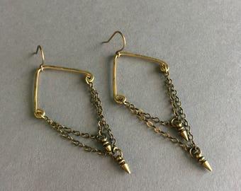 Double Dart Spike Earrings