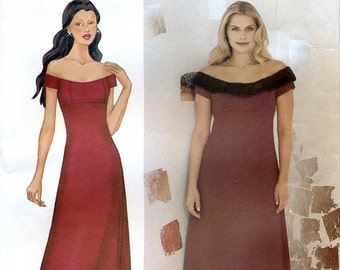 Butterick 6876 Sewing Pattern by Nicole Miller for Misses' Evening Dress - Uncut - Size 8, 10, 12