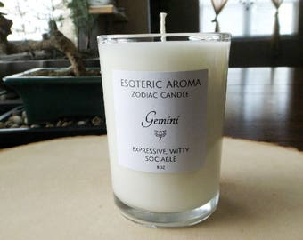 Gemini Zodiac Soy Candle - astrology, astrological, gift idea, personalized gift, custom gift, birthday gift, unique gift