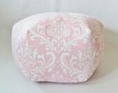 RESERVED Damask Floor pouf - Custom  Ozborne Twill Bella Pink