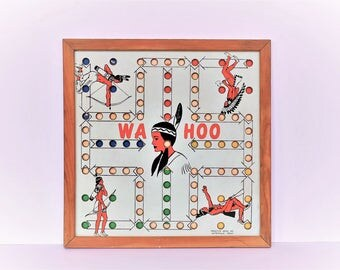 Vintage Indian Game Board Cowboy Native American 1950s