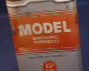 Vintage United States Tobacco Co. Model Complimentary Smoking Tobacco Tin, 1940s (empty)