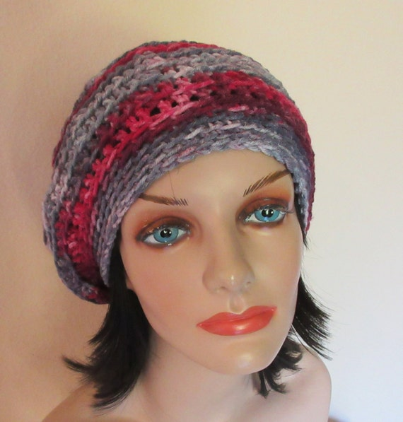 Slouch Hat Crochet Slouchy Hat Cold Weather Accessory Women's Crochet Slouchy Hat French Beret Tam