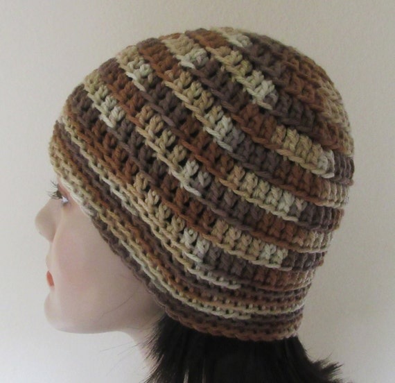 Shades of Brown Crochet Beanie Cold Weather Accessory Hockey Dad Hockey Mom Snow Playing Ski Hat Ice Skating