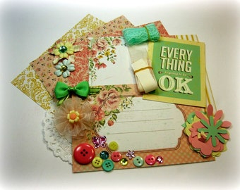 Kaisercraft Tea Break Inspiration Kit, Embellishment Kit, Life Project Kit for Scrapbook Layouts Cards Mini Albums Tags and Paper crafts