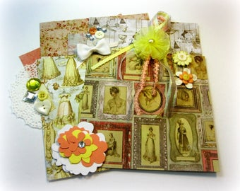 Prima Debutante Inspiration Kit, Embellishment Kit, Crafting Kit for Scrapbook Layouts Cards Mini Albums Tags and Paper crafts 2