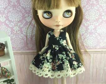 Blythe Dress - Cream and Black Floral