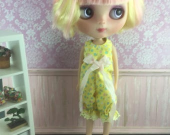 Blythe Romper - Yellow Floral