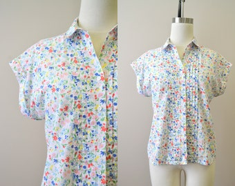 1970s Classic Fashions Floral Shirt
