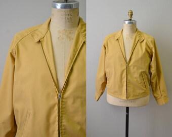 1960s Weathercaster Yellow-Tan Mens Jacket