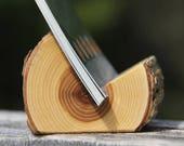 elm - natural wood business card holder