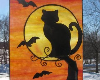 Black Cat Suncatcher
