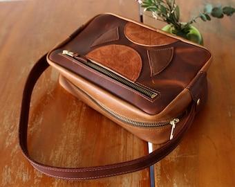 Sharon Handbag - #1  - leather purse - handmade leather bag - leather art - handmade leather purse - womens leather bag