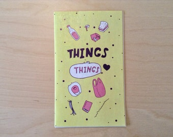 Things in Things - illustrated color comic art zine