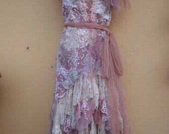 "20%OFF vintage inspired shabby bohemian gypsy dress ..medium to 40"" bust..."