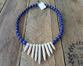 Blue and White Howlite Be...