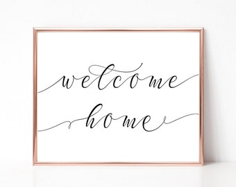 SALE -50% Welcome Home Digital Print Instant Art INSTANT DOWNLOAD Printable Wall Decor