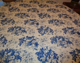 Toile Tablecloth Etsy