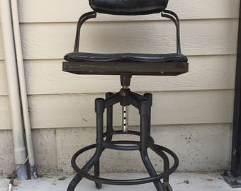 Fritz Cross industrial stool