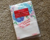 Standard Size Pillow Blue Floral Cases, irregulars, In Package Old Stock All Cotton. Stevens Utica