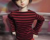 Red and Black Stripe 45cm/MSD BJD Shirt
