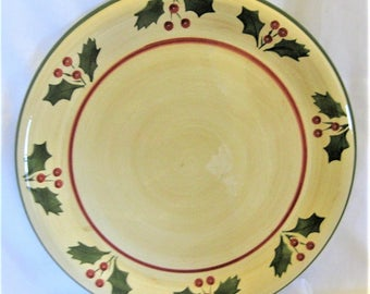 "Platter/Chop Plate Round 14 1/4"" Victorian Holly"