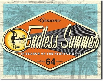 Vintage Style Tin Sign, Endless summer retro sign, man cave, USA, garage decor, wall hanging