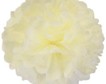 Cream Tissue Pom Pom 4, 6, 8 or 10 inch Set of 2 /Weddings/Showers/Birthdays/Parties
