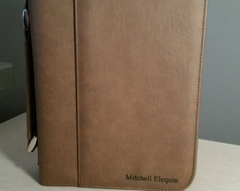 Leather Bible Cover - Laser engraved - Custom engraving upon request