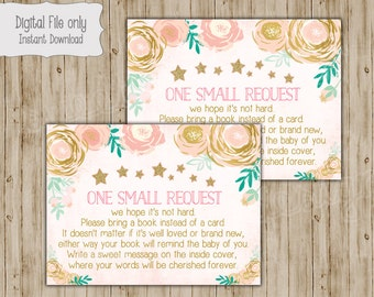 Twinkle Baby Shower Book Insert, Bring a Book Insert, Bring a Book Instead of a Card, Book Insert Card, Twinkle Twinkle Baby Shower