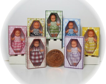Molly Dolly a miniature dolly for your dolls house doll. Colour choice.