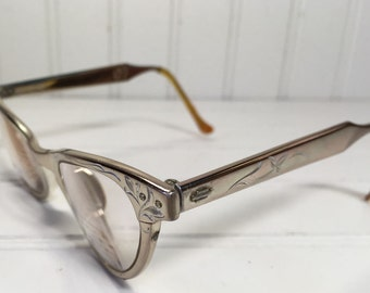 Vintage Art-Craft Alum Cat Eye Glasses