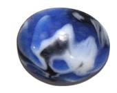 Blue Bomb Bowlerite Cab, Upcycled Bowling Ball fragment